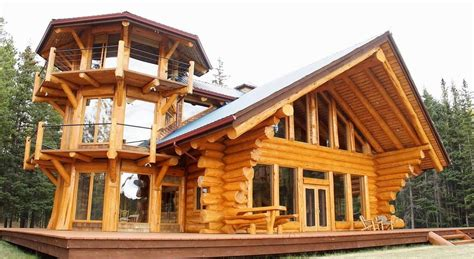 Tower Log Home Design   Home Design, Garden & Architecture