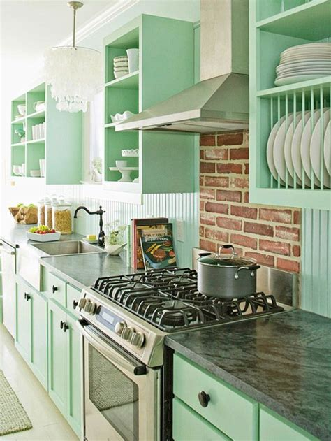 mint kitchens arredare con il colore verde menta la figurina