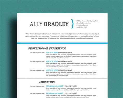 professional templates for pages professional resume template cover letter references