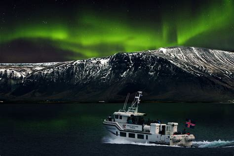 iceland northern lights tour package northern lights by boat
