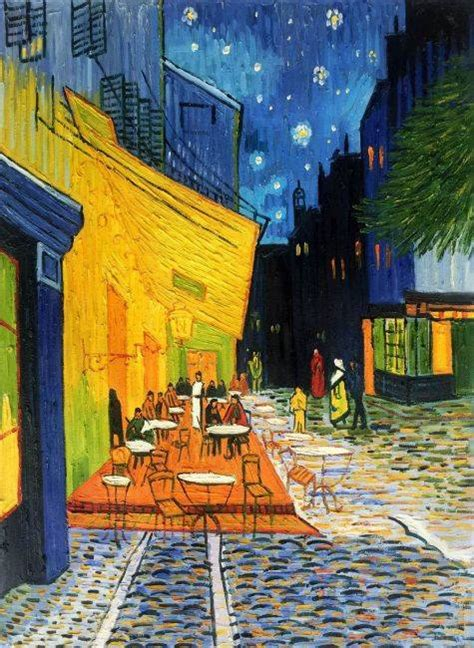 terrasse cafe cafe terrace at night vincent van gogh painting