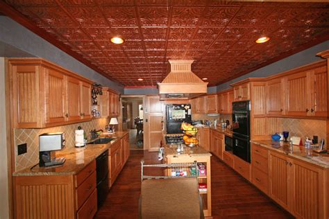 Kitchens With Tin Ceilings by Kitchen Copper Ceiling Decorative Ceiling Tiles Inc S