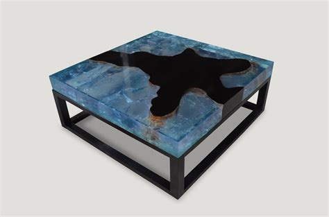 cracked resin coffee table blue cracked resin coffee table 9mr andrianna shamaris