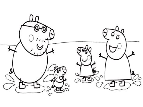 Descargar Dibujos Para Colorear Peppa Pig The Pig Coloring Pages