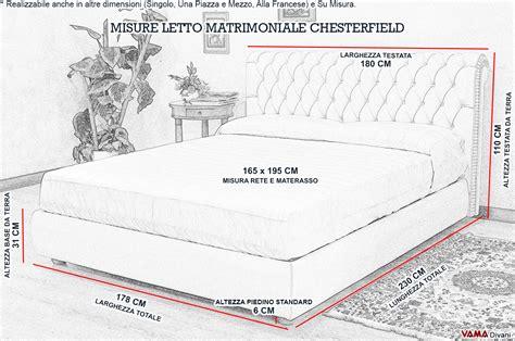 dimensioni di un letto matrimoniale letto chesterfield matrimoniale in pelle realizzabile su