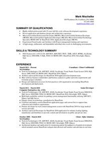 resume skills summary sle 100 resume career objective summary 28 images goals on