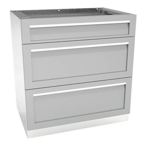4 drawer kitchen cabinet 4 life outdoor stainless steel 3 drawer 32x35x22 5 in