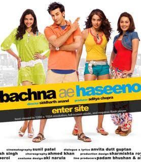 Dvd Kualitas Hd Bachna Ae Haseeno the lyrics library bachna ae haseeno 2008 dvdrip all hd