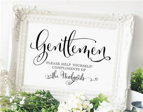 wedding bathroom signs gentlemen wedding bathroom sign 5x7 sign diy printable