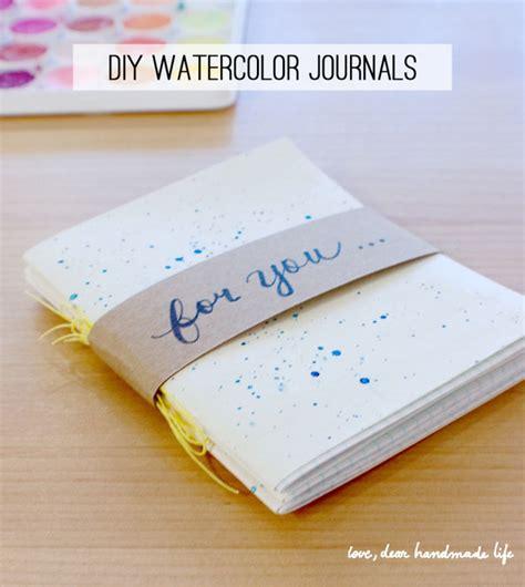 Diy Handmade Journals - diy watercolor journals dear handmade