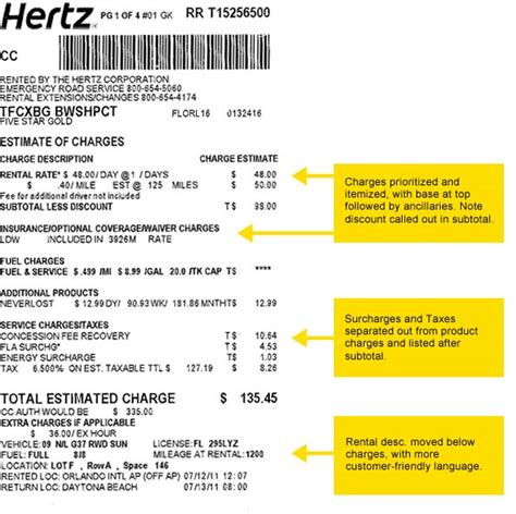 hertz receipt template hertz has a new rental agreement format in the us