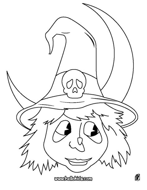 Witch Head Coloring Page | witch coloring pages witch head