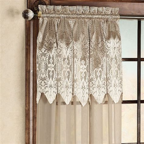 Priscilla Curtains With Attached Valance Priscilla Lace Curtains With Attached Valance Best Home Design 2018