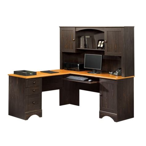 Sauder Harbor View Antiqued Paint Corner Desk 403794