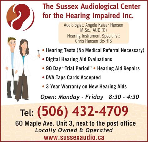 next new year s day opening hours sussex audiological center for the hearing impaired inc