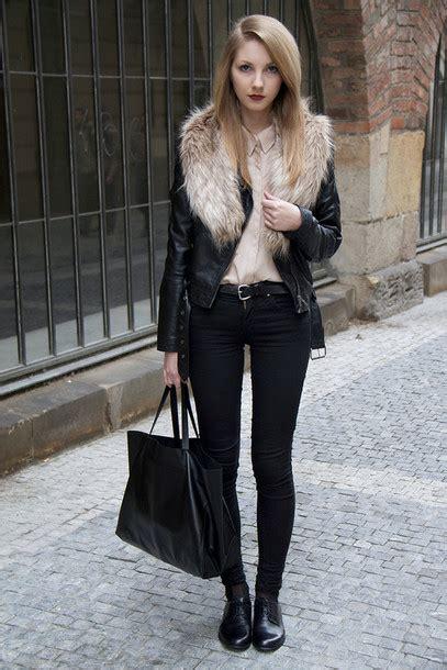 Dress Onde Pink Kid By Z Shop jacket fur collar jacket black jacket leather jacket