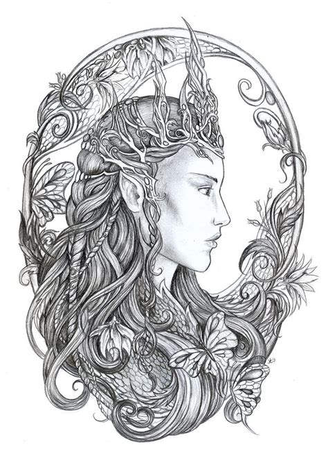 colouring books tagged quot bennett klein quot colouring elven queen by jankolas on coloring pages queen and