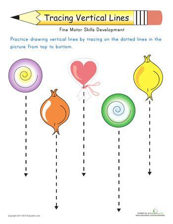standing line pattern worksheets for kindergarten vertical lines drawing downward worksheets activities