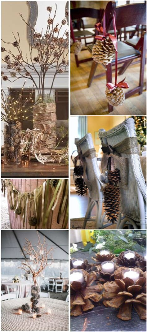 pine cone themed decor 35 pinecones wedding ideas for your winter wedding