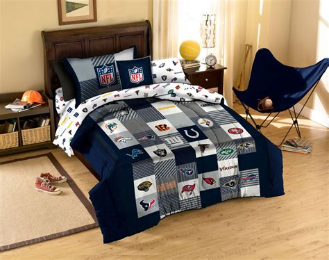 nfl bedding nfl comforter set football league teams 3pc full queen bed