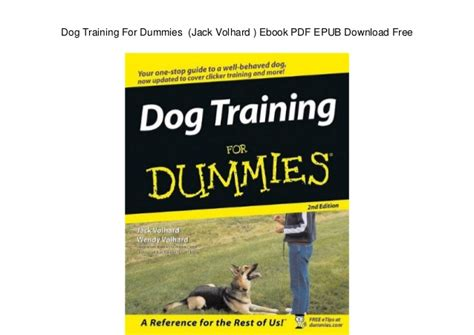 puppy for dummies for dummies volhard ebook pdf epub free