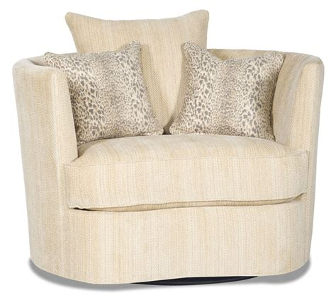 swivel barrel chair fabric barrel style swivel chair in a chic ivory fabric