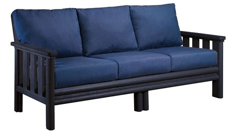black couch cushions stratford black sofa with indigo blue sunbrella cushions
