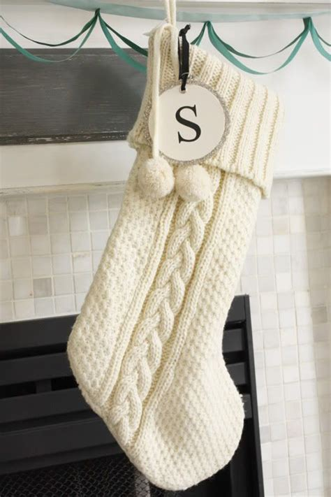white christmas knitted stocking ideas homemydesign