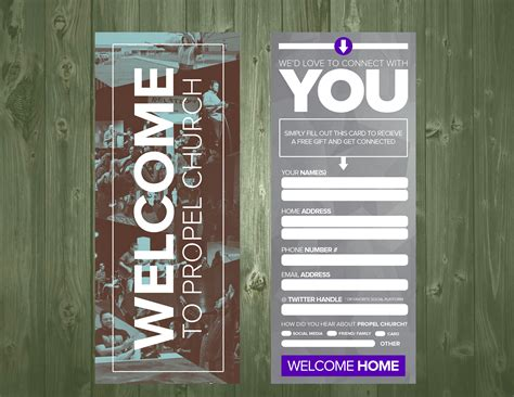 Visitor Card Template Psd by 3 5 215 9 Psd Connection Card Template Church Visitor Ideas