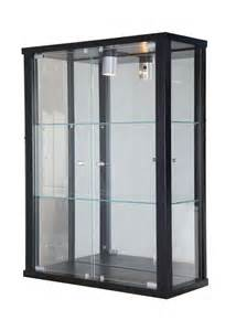 Display Cabinet Wall Mounted Wall Mounted Glass Display Cabinet Black