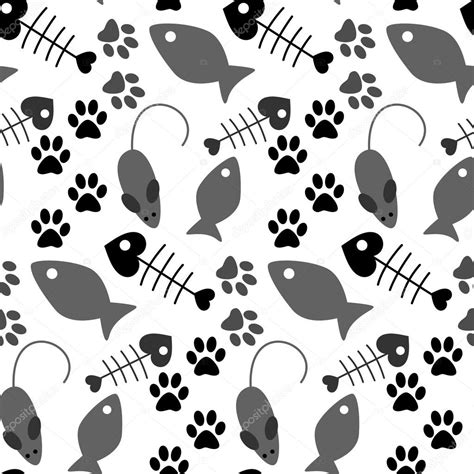 cat themed wallpaper cat paw print background clipart