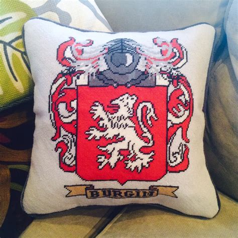 Pillow Custom Design 10 custom family crest and wedding needlepoint pillows