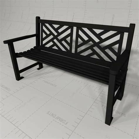 smith and hawken bench smith and hawken bench smith hawken newcastle bench 3d