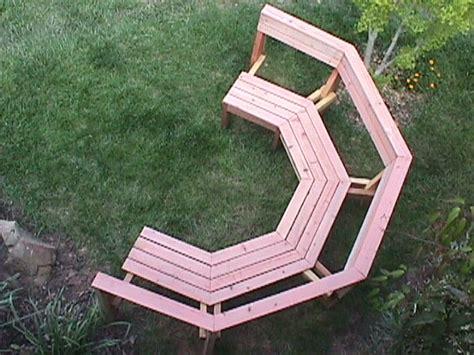 octagon tree bench octagonal redwood garden bench california gardens