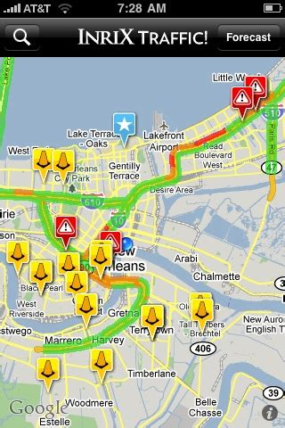 traffic app android mobile apps inrix traffic for iphone and android users