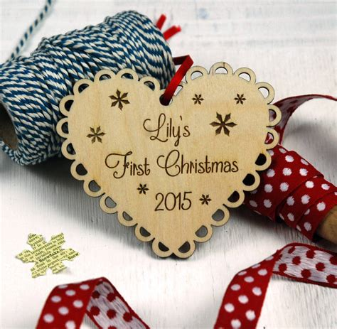 personalised baby s first christmas decoration by
