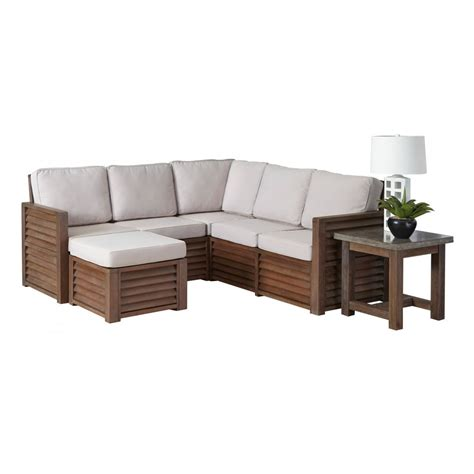 barnside 80 5 x 80 5 corner quot l quot sofa ottoman and end