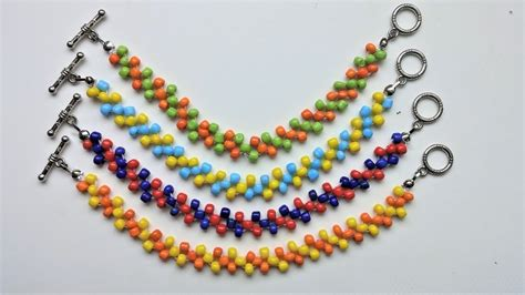 bead patterns for beginners easy beaded beginners pattern diy colorful bracelets