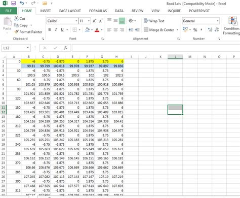 cross section statistics help exporting cross section data in tabular format