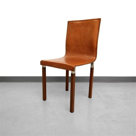 Modern Industrial Dining Chairs Set Of Four Leather Emile Industrial Modern Dining Chairs By Zele Company At 1stdibs