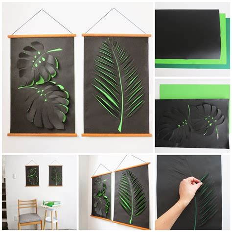 How To Make Paper Wall Decorations - wonderful diy paper leaf wall decoration