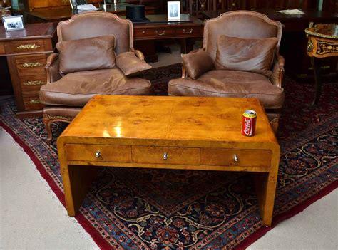 Regent Antiques Coffee Tables Elegant Art Deco Style Birdseye Maple Coffee Table