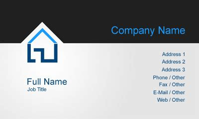 free general contractor business card templates property construction business card template