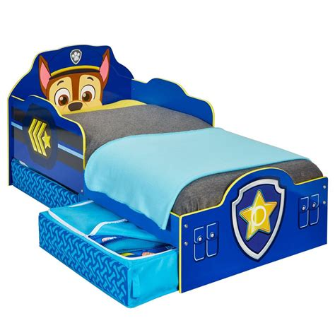 Official Paw Patrol Chase Toddler Bed With Storage Mdf New 509pwp Ebay