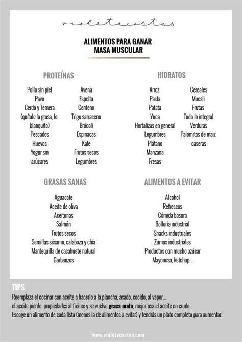 alimentos para subir masa muscular los mejores alimentos para aumentar masa muscular