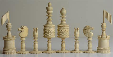 fancy chess set fancy english bone set antique chess shop