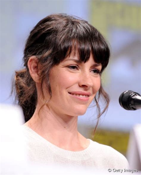 Evangeline Lilly: how to soften blunt bangs