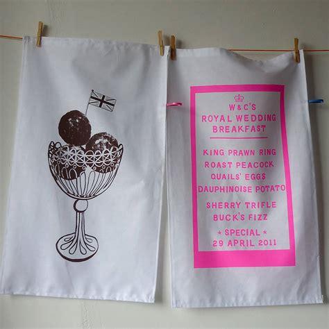 Royal Wedding Tea Towels Royal Wedding Breakfast Tea Towel By Mr Ps