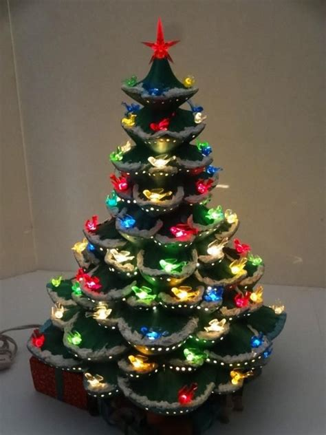 ceramic christmas trees with lights for sale