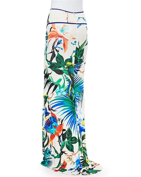 Roberto Cavalli At Hm Goes Just As Nuts In New York by Lyst Roberto Cavalli Alize Print Jersey Maxi Skirt